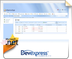 Devexpress, expressApp