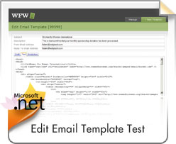 WFW, Edit Email Template - Test
