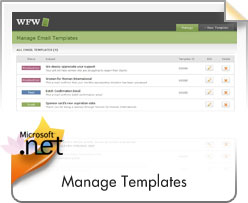 WFW, Manage Email Templates