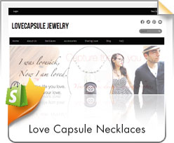 Shopify, Love Capsule Necklaces