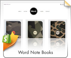 Shopify, Word Note Books